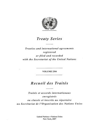 image of Treaty Series 2304