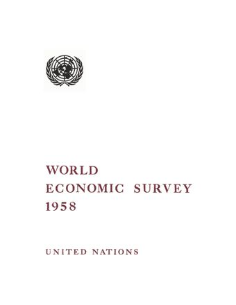 image of World Economic Survey 1958