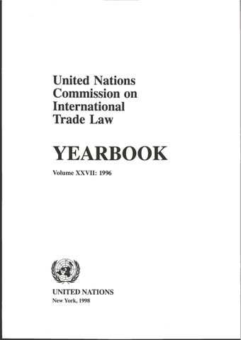 image of United Nations Commission on International Trade Law (UNCITRAL) Yearbook 1996