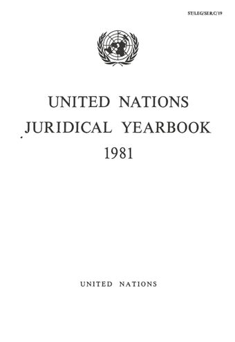 image of United Nations Juridical Yearbook 1981