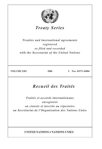 image of Treaty Series 2383