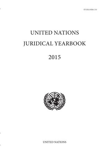 image of United Nations Juridical Yearbook 2015