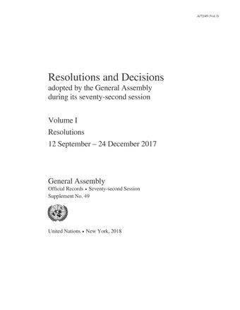 image of Resolutions adopted without reference to a Main Committee