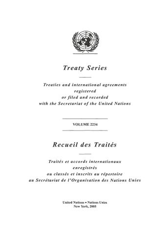 image of Treaty Series 2234