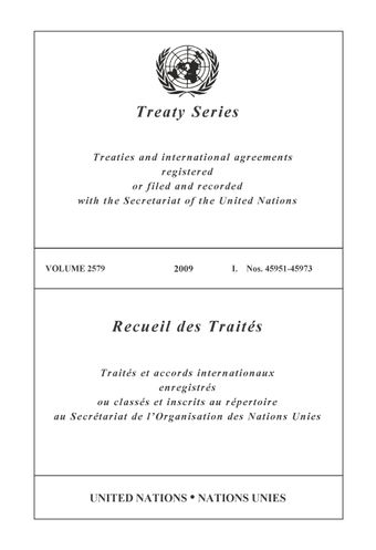image of Treaty Series 2579