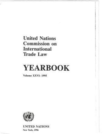 image of United Nations Commission on International Trade Law (UNCITRAL) Yearbook 1995