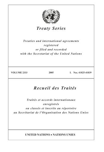 image of Treaty Series 2333