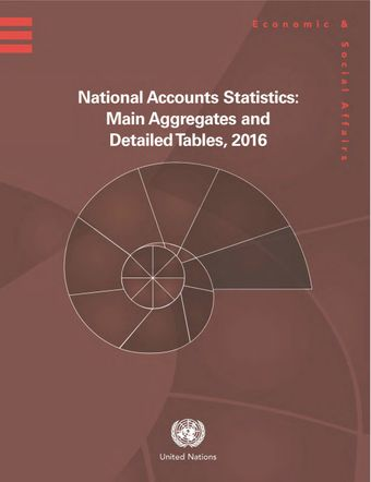 image of National Accounts Statistics: Main Aggregates and Detailed Tables 2016 (Five-Volume Set)