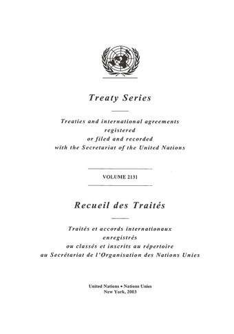 image of Treaty Series 2131