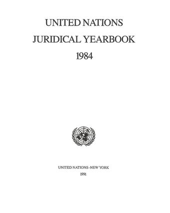 image of United Nations Juridical Yearbook 1984