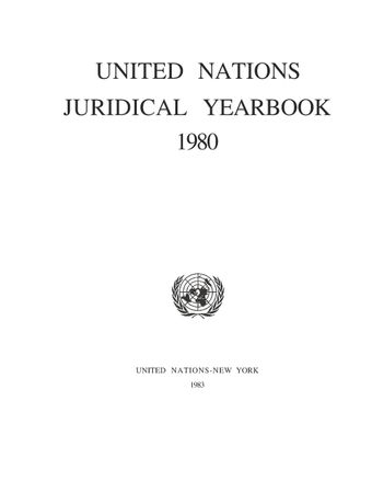 image of United Nations Juridical Yearbook 1980