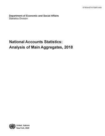 image of Percentage distribution of main National Accounts Aggregates at current prices: Individual Countries or areas
