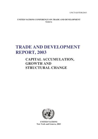 image of Trade and Development Report 2003