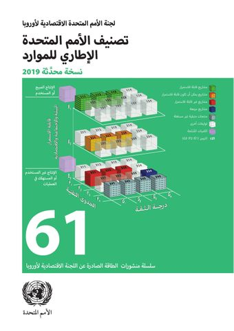 image of United Nations Framework Classification for Resources (Arabic language)