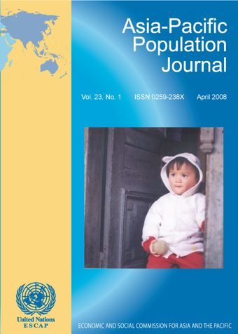 Asia-Pacific Population Journal, Vol. 23, No. 1, April 2008