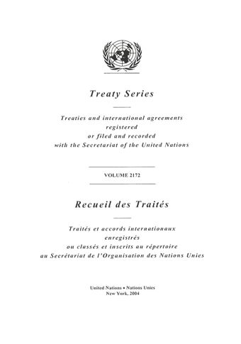 image of Treaty Series 2172