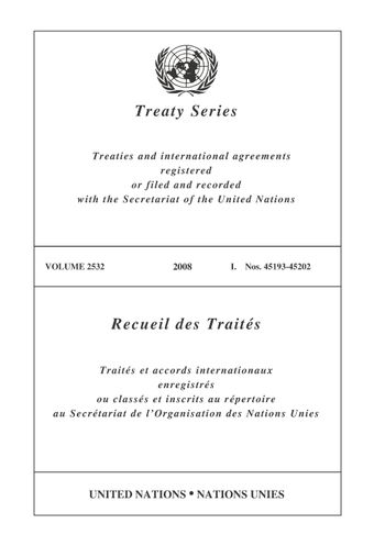 image of Treaty Series 2532