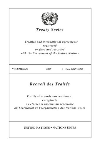 image of Treaty Series 2636