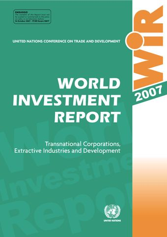 image of World Investment Report 2007