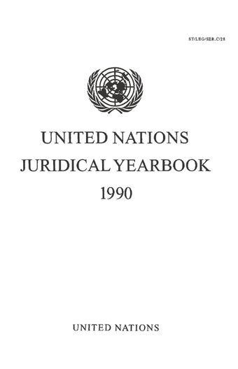image of United Nations Juridical Yearbook 1990