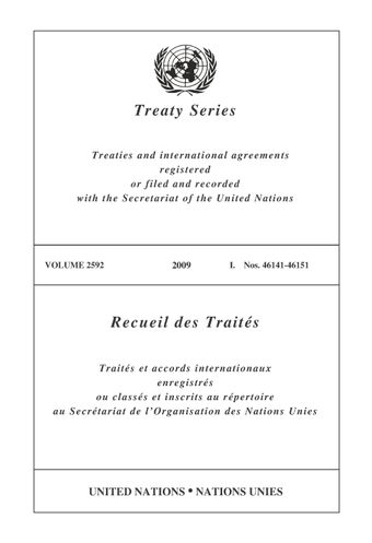image of Treaty Series 2592