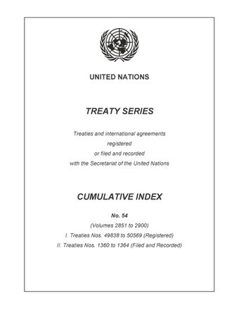 image of Treaty Series Cumulative Index No. 54