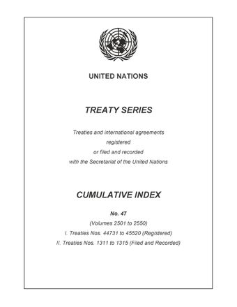 image of Treaty Series Cumulative Index No. 47