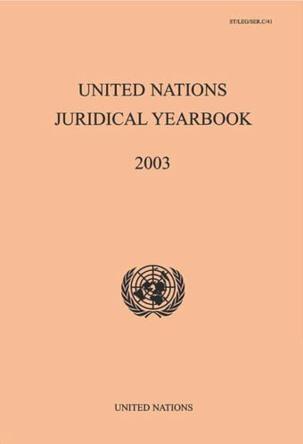 image of United Nations Juridical Yearbook 2003