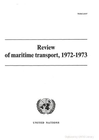 image of Review of Maritime Transport 1972-1973