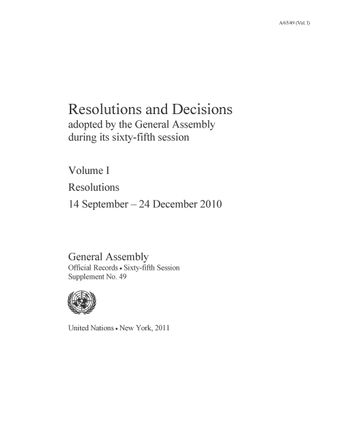 image of Resolutions adopted on the reports of the sixth committee