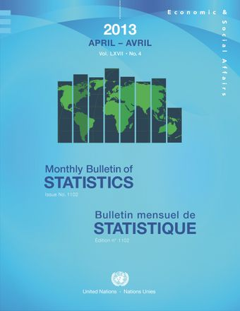 image of Monthly Bulletin of Statistics, April 2013