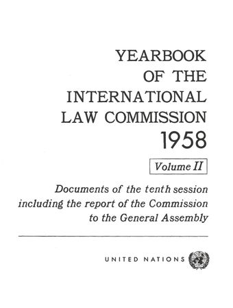 image of Yearbook of the International Law Commission 1958, Vol. II