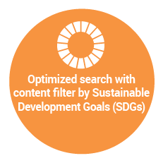 Optimized search with content filter by Sustainable Development Goals (SDGs)